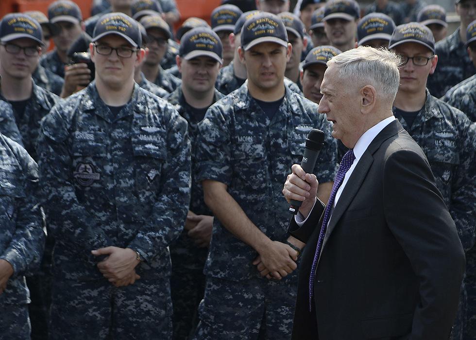 """""""לחימה צבאית עלולה להיות קטסטרופלית"""". מאטיס (צילום: AFP)"""