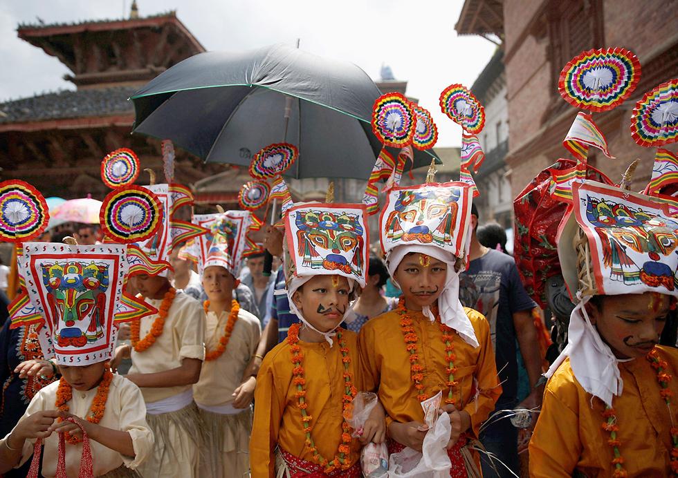 פסטיבל הפרות הקדושות בקטמנדו, נפאל (צילום: רויטרס)
