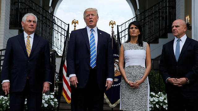 L-R: Tillerson, Trump, UN envoy Nikki Haley and National Security Advisor H. R. McMaster (Photo: Reuters) (Photo: Reuters)