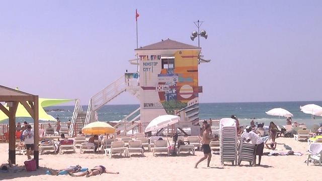 """Пляж """"Фришман"""" в Тель-Авиве. Фото: Ницан Дрор"""
