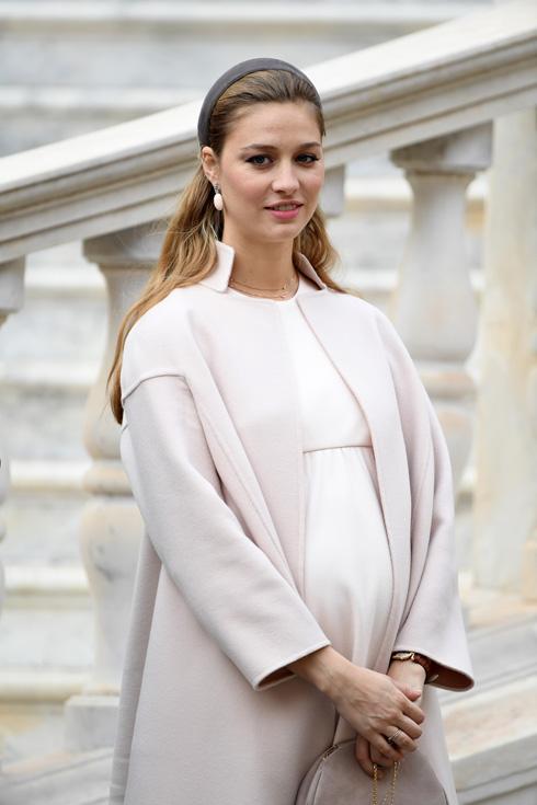 בפברואר האחרון ילדה את בנה הבכור, סטפאנו ארקול קרלו קסיראגי, אשר נקרא על שם אביו של פייר ועל שם אביה שלה (צילום: Gettyimages)