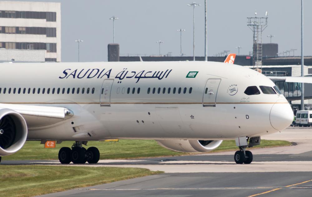 """מטוס החברה לאחר שינוי שמה ל""""סעודיה"""" בלבד (צילום: shutterstock)"""