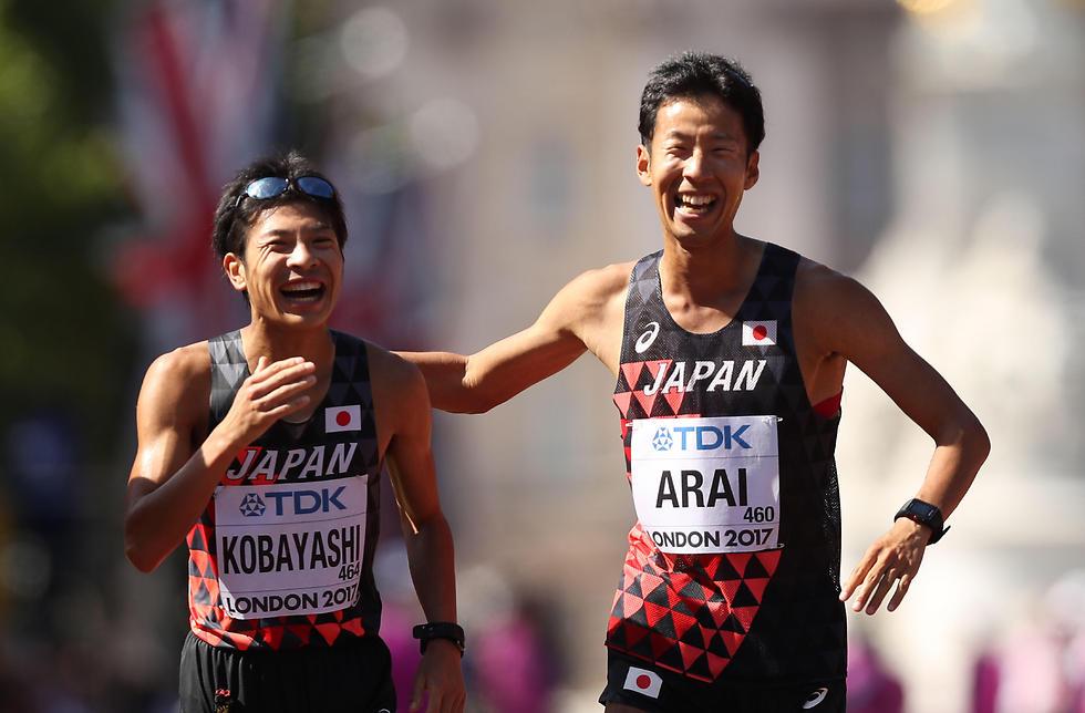 כסף וארד ליפן. קאי קוביאשי והירוקי אראי (צילום: AFP)