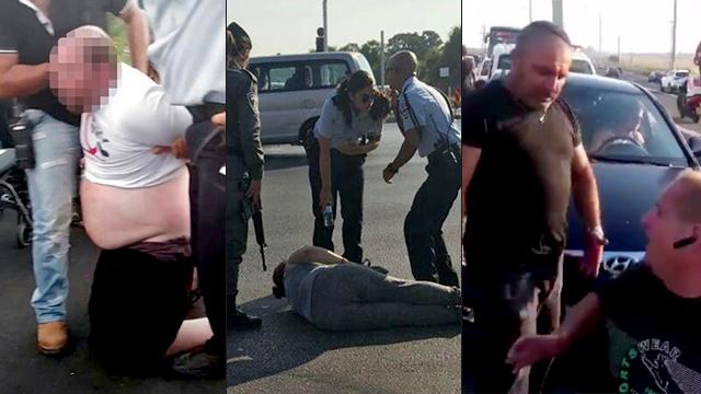 Police arresting violent protestors (Photo: Naomi Moravia, Elhanan Aharon, Matan Turkia)