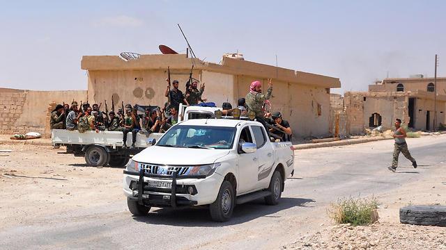Assad army at As-Suwayda district (Photo: AFP)