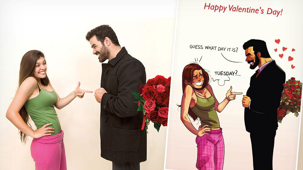 האיורים הזוגיים של יהודה ומאיה כובשים לבבות גם באיראן ועיראק