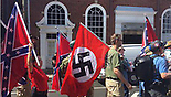 Nazi flag at the white supremacist protests