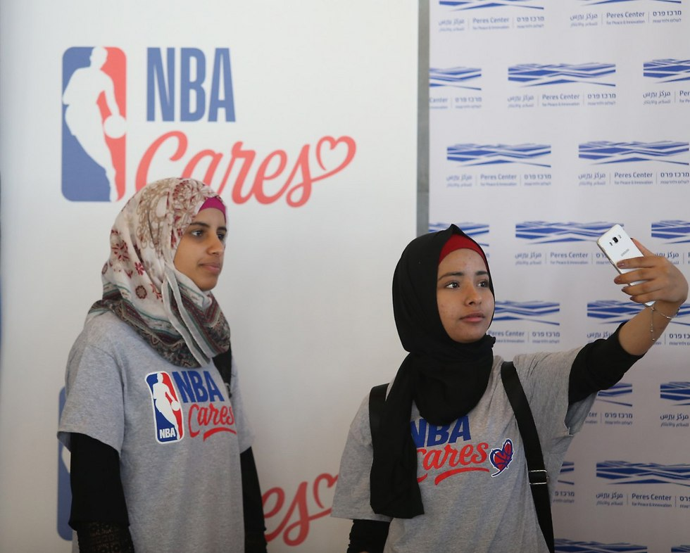 NBA fans at the Basketball without Borders event in the Peres Center for Peace (Photo: Oren Aharoni)