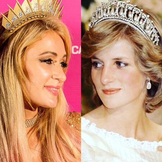 הופרדו בלידתן: הנסיכה דיאנה ופריס הילטון (אינסטגרם, gettyimages)