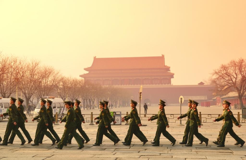 הצבא צועד על קיבתו (צילום: Shutterstock)