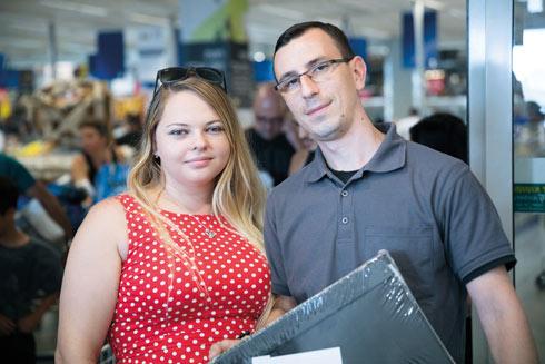 אנדריי ופבלינה רובין. חרגו מהתקציב (צילום: טל שחר)