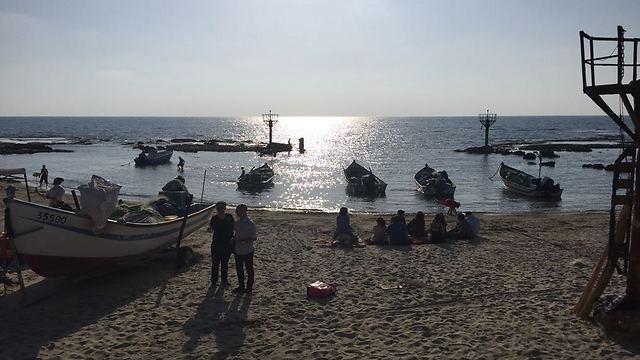 חוף ג'סר א-זרקא (צילום: יובל בן עמי) (צילום: יובל בן עמי)