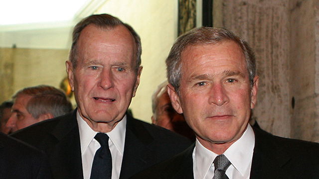 George H.W. Bush and George W. Bush (Photo: Getty Images)