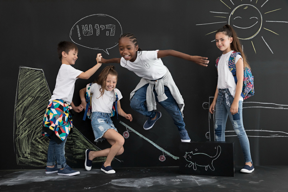 מתכוננים ליום הראשון בבית הספר. הילדים של קסטרו (צילום: שי יחזקאל)