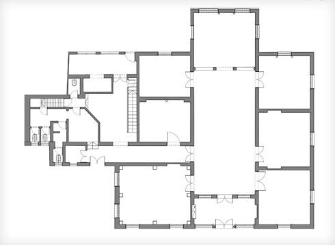 תוכנית הבית המקורי (תוכנית: גריל אופנהיים אדריכלות ועיצוב פנים)