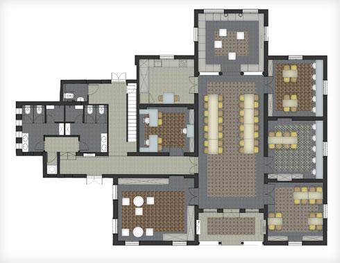 תוכנית הבית לאחר השיפוץ (תוכנית: גריל אופנהיים אדריכלות ועיצוב פנים)