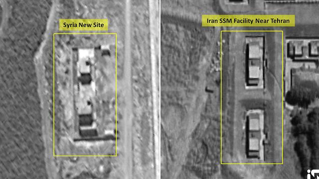 מתקנים בסוריה (משמאל) שנחשדים כמפעלי טילים כמו באיראן (צילום: רויטרס)