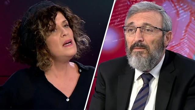 Batya Kahana-Dror (L) and Rabbi Dov Halbertal
