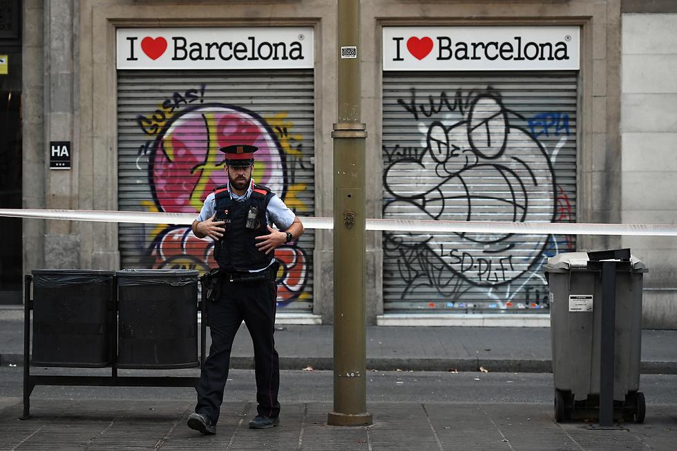 אבטחה כבדה בברצלונה לאחר אירוע הטרור (צילום: gettyimages)