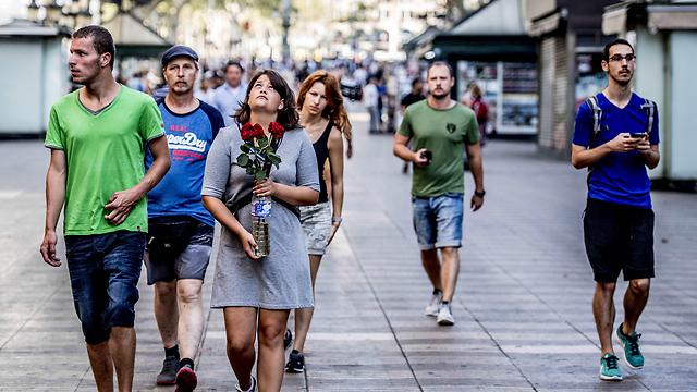 שדרות לה רמבלה יום אחרי הפיגוע (צילום: MCT)
