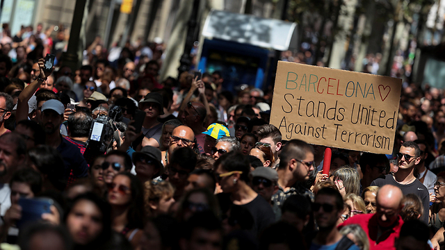 Barcelona protest rally the day after attack (Photo: Reuters)