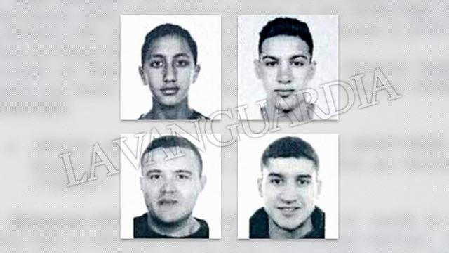 Four of  the suspects in the Cambrils attack (Photo: La Vanguardia)