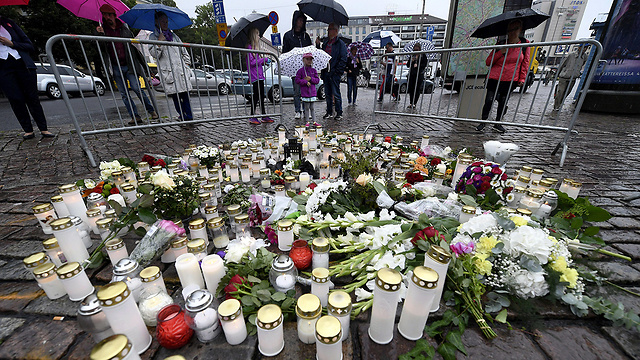 Turku, Finland, the day after the attack (Photo: AP)