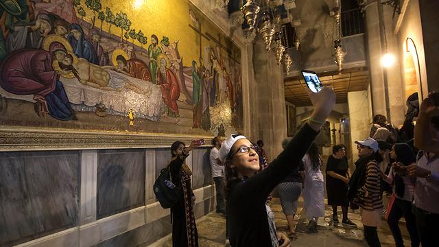 ביקור ראשון בירושלים (צילום: AFP)