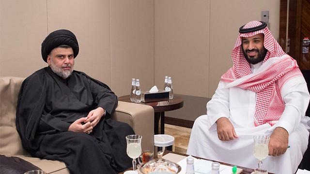 יורש העצר הסעודי בן סלמאן עם הבכיר השיעי העיראקי א-סדר (צילום: רויטרס) (צילום: רויטרס)