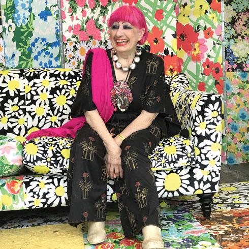 זנדרה רודס. ייסדה את מוזיאון הטקסטיל בלונדון (צילום: אהרן הוכברג)