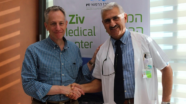 Ratney (L) and Prof. Lernet (Photo: Ziv Medical Center)