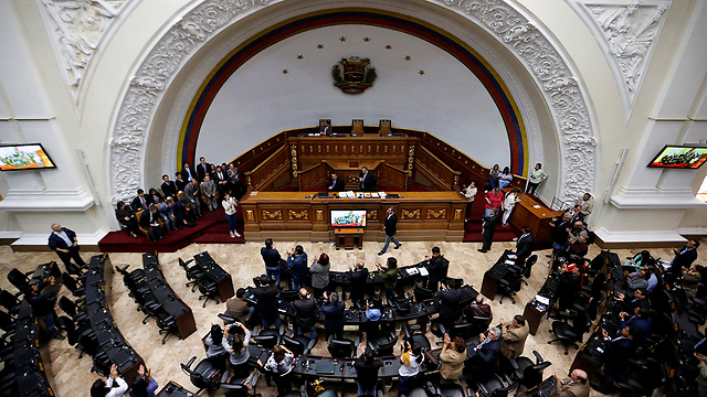 האופוזיציה דרשה בחירות כלליות. האסיפה המחוקקת בוונצואלה (צילום: רויטרס) (צילום: רויטרס)