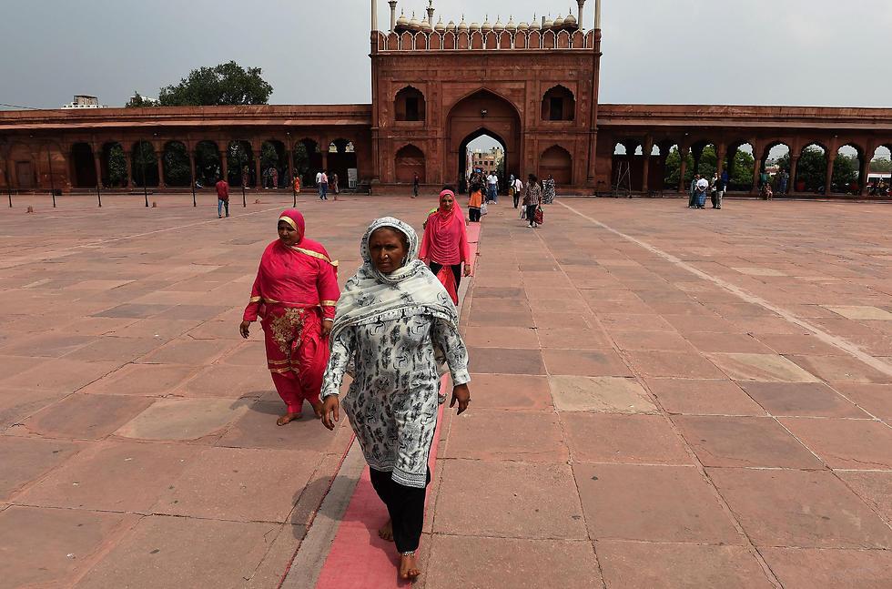נשים מוסלמיות בהודו (צילום: AFP)
