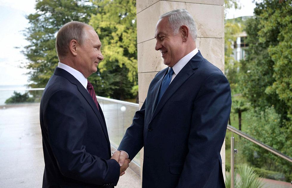 Putin and Netanyahu meet in Sochi (Photo: AFP)