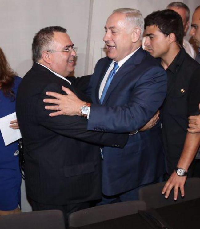 ראש הממשלה בנימין נתניהו ודוד ביטן (אלירן אביטל)