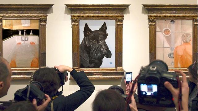 הכלב בארני שצייר בוש (Reuters, Sergio Perez, Salon)