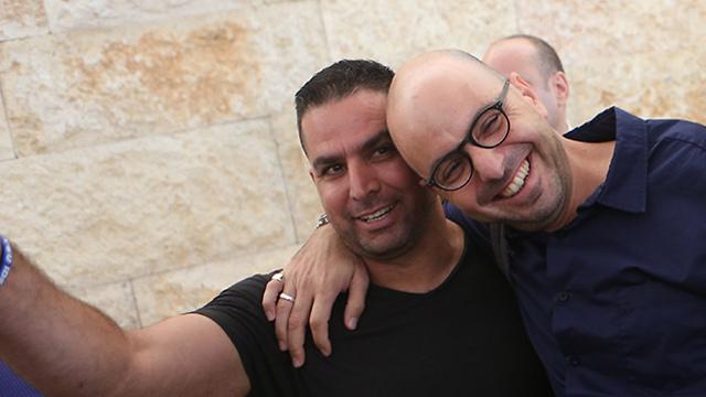 An ulikely duo. Naftali (L) and Yaniv (Photo: Alex Kolomoisky)