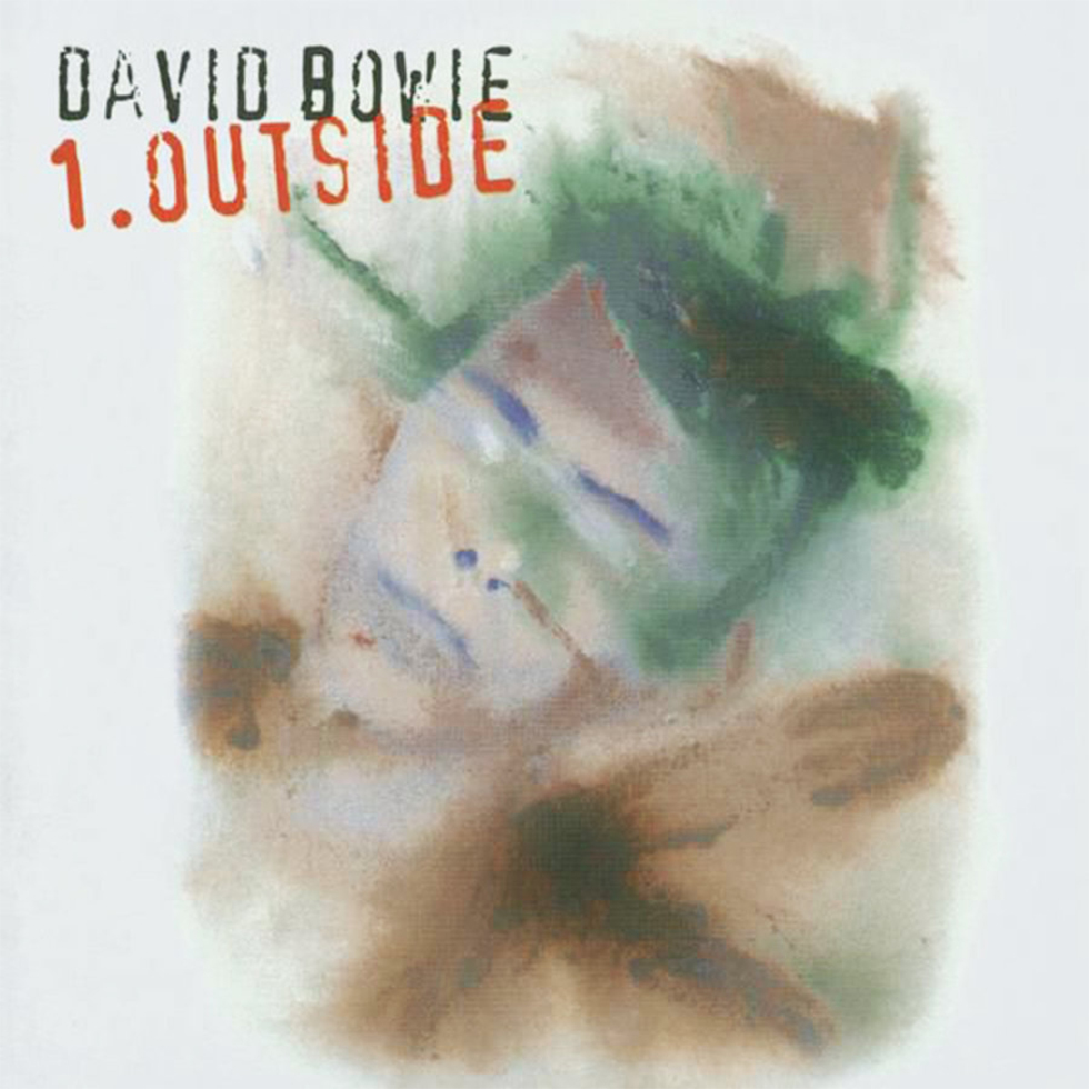 """עטיפת אלבומו של בואי """"Outside"""", שצייר בעצמו"""