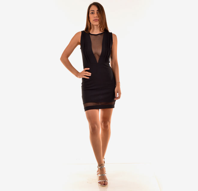 שמלת מיני עם מחשוף וי עמוק. 49 שקל, סימפלי פאשן, שופינג לאשה