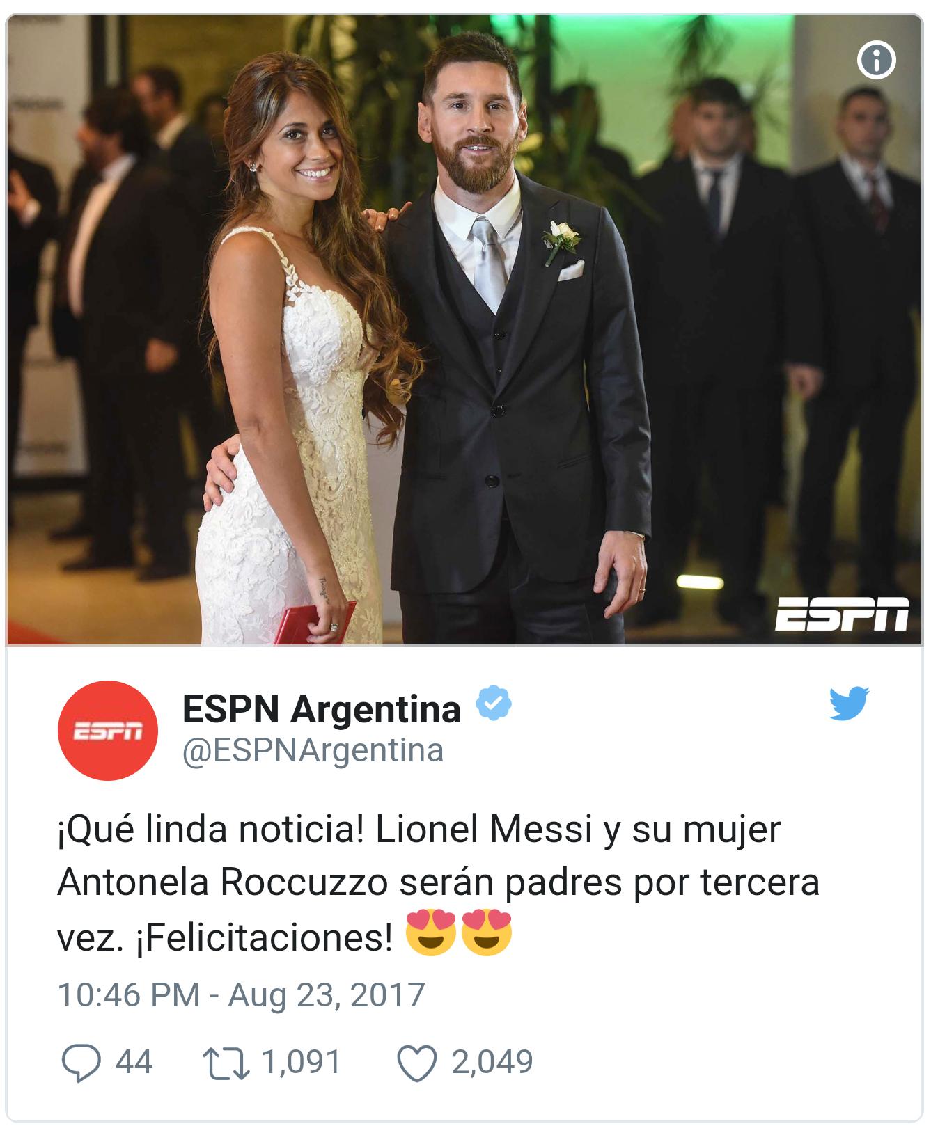 הדיווח ב-ESPN ארגנטינה (צילום מתוך טוויטר)