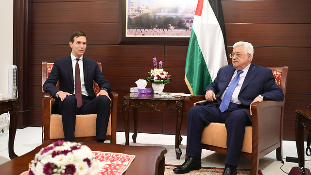 Jared Kushner and Mahmoud Abbas (Photo: Getty Images)