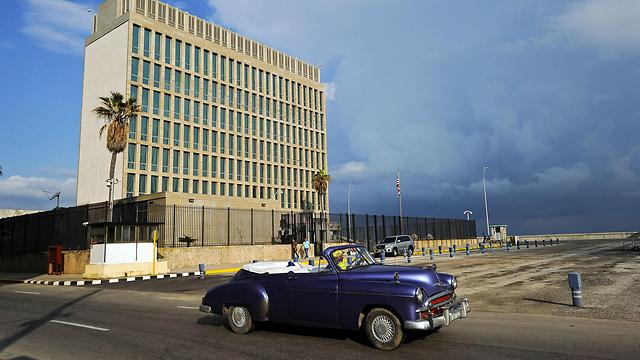 """שגרירות ארה""""ב בהוואנה (צילום: AFP) (צילום: AFP)"""