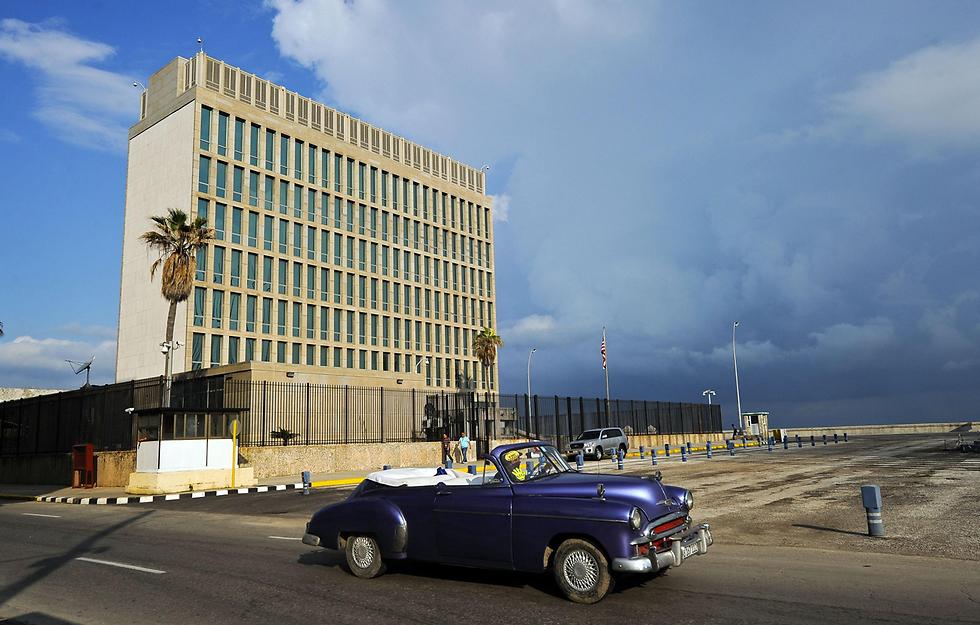 """שגרירות ארה""""ב בהוואנה (צילום: AFP)"""