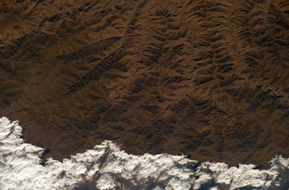 """אזור מזרח אפריקה (צילום: רנדי ברסניק, נאס""""א)"""