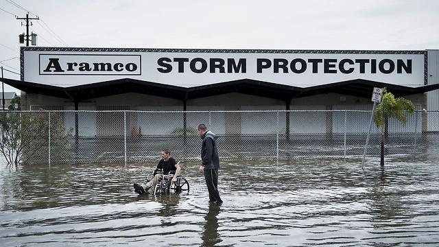 נזקי ההוריקן הארווי בטקסס (צילום: AFP)