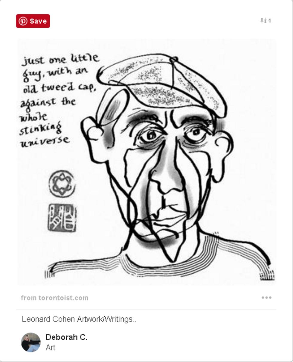 דיוקן עצמי של לאונרד כהן (Pinterest)