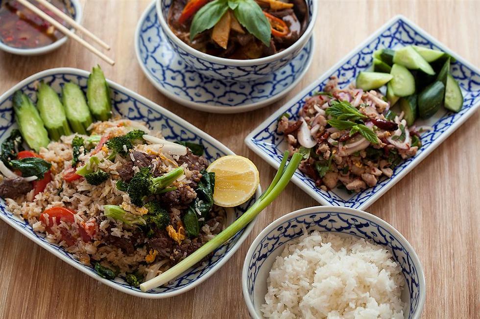 """כל הטוב שבמסעדת """"בית תאילנדי"""" (צילום: אפיק גבאי)"""