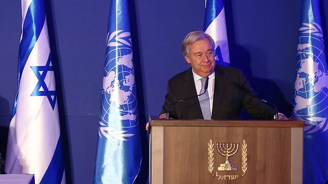 """מזכ""""ל האו""""ם בביקורו בישראל (צילום: אוהד צויגנברג) (צילום: אוהד צויגנברג)"""