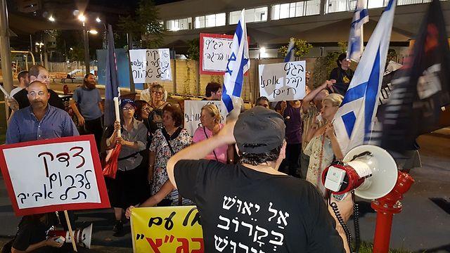 The protest in South Tel Aviv (Photo Yariv Katz)