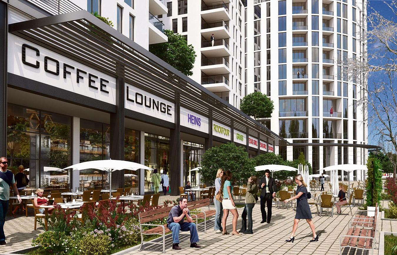 פרויקט פינוי בינוי של קבוצת יובלים (הדמיה) ברובע א'. בשלב ראשון יפונו 232 דירות ובמקומן יבנו 1180 יחידות דיור חדשות ומרכז מסחרי